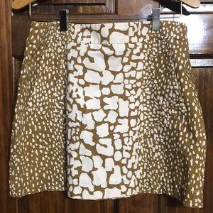 JCrew Animal Print Skirt Size 10